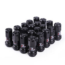 16+4 Pcs Black Composite R40 Iconix Lock Anti Theft Wheel Lug Nuts M12x1.25