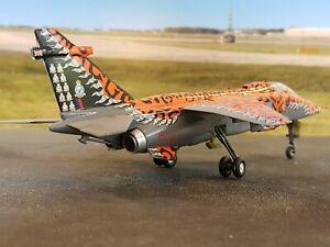 BUILT 1:72 Italeri Sepecat Jaguar GR3 'Big Cat' 6 Sqn RAF Coningsby
