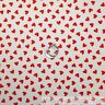 BonEful Fabric FQ Cotton Quilt White Red Small Heart Valentine Xmas Shabby Chic