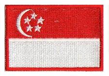 Singapore shield flag patche patch singapore 75x50 mm heatfix embroidered