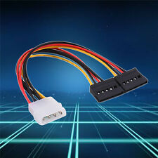 5pcs 20CM TWO SATA Male To 4 Pin IDE Dual Molex Female Converter Cable Adapter