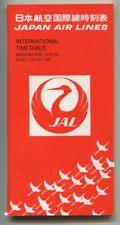 JAL JAPAN AIRLINES TIMETABLE SEPTEMBER-OCTOBER 1981