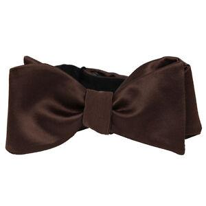 Men's Stylish Adjustable Solid Satin Finish Formal Self Tie Bow Tie Wedding