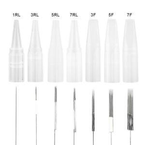 Permanent Make-Up Nadeln - 50 Stück - 7 Flat - 7F + Kappe