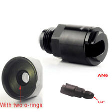 """Car Fuel Line EFI  -6 AN Male to 1/4"""" Quick Disconnect Push Hardline Adapter"""