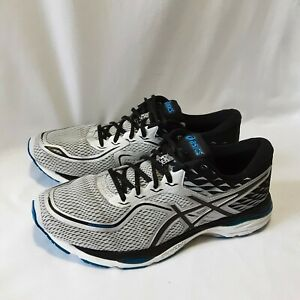 Men's Gel Cumulus Asics Fluid Ride Black White Running Shoes Trainers UK 11.5