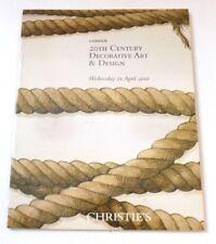 Christies - 20th Century Decorative art & design  2010 AUCTION CATALOGUE