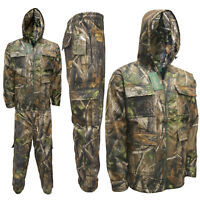 Men's Jungle Water Proof Suit Jacket Trousers Fishing Coat Realtree Safari M-6XL