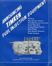 1937 8 Page Brochure Ad of Timken Fuel Injection Equipment Fuel Pump & Parts