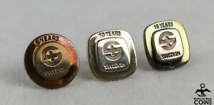Lot of 3: Tiffany & Co. Sterling Silver (.925) Square Swedish Service Years Pins