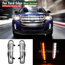 LED Daytime Running Light For Ford Edge SUV Fog Lamp DRL 2011-2014 Turn Signal