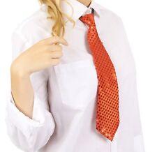 Krawatte Pailletten Glitzer Krawatte Party Fasching Pailletten Krawatte Orange