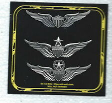 US ARMY  PILOT WINGS BADGE 3 WINGS SET 1 BASIC, 1 SR, AND 1 MASTER