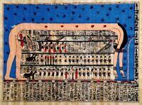 """La volta celeste"" _ Pittura originale - autentico papiro egizio"