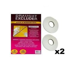 Twin Draught Excluder Window Door Seal Easy To Fix 4m Packs Of 2