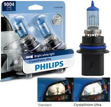 Philips Crystal Vision Ultra 9004 HB1 65/45W Two Bulbs Head Light Replacement OE