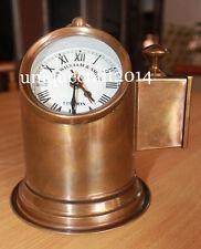 NAUTICAL BRASS LAMP HELMET W/WATCH SIR WILLIAM LONDON ANTIQUE REPLICA ITEM