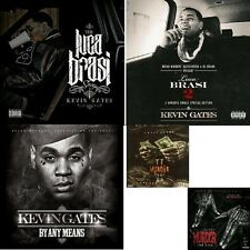 "KEVIN GATES 5-CD-""LUCA BRASI 1&2+ BY ANY MEANS+ MURDER HIRE 1&2"" OFFICIAL MIX CD"