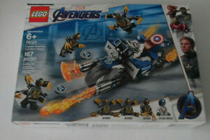 LEGO 76123 Marvel Captain America Outriders Attack 167 Piece Building Set Toy