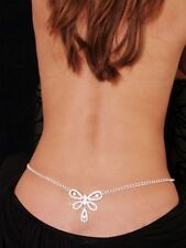 Sexy  butterfly rhinestone belly chain and lower back jewlery.