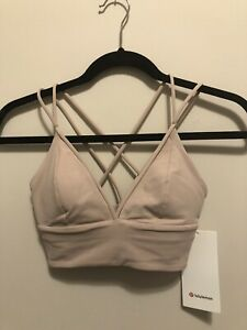 NWT Lululemon Size 8 Pushing Limits Bra A/B MINK Pale Blush Pink
