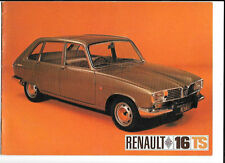 RENAULT 16  TS SALES BROCHURE LATE 1969 FOR 1970 MODEL YEAR