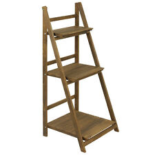 3 Tier Wooden Ladder Shelf Storage Display Unit Stand Bookcase Home Shelving