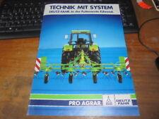 Prospekt Sales Brochure Landtechnik Traktor Deutz Fahr Pro Agrar Futterernte