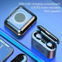 Bluetooth 5.0 Headset TWS Wireless Earphones 3D Stereo Headphones Earbuds In-ear