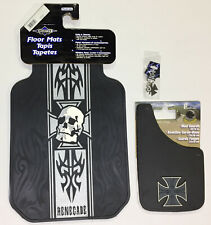 Renegade Iron Cross 5 Pc Automotive Gift Set Floor Mats Mud Guards and more