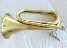 VN12 - SMALL BRASS SCOUTS BUGLE HORN, ARMY SCOUT ANZAC CHRISTMAS