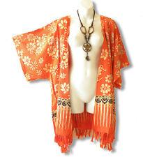 CB245 Floral Plus Size Cardigan Duster Jacket Kimono Cover up - 2X, 3X, 4X & 5X