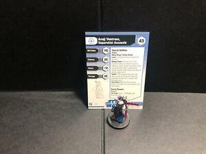 Star Wars Miniatures Asajj Ventress, Separatist Assassin w/ Card mini RPG