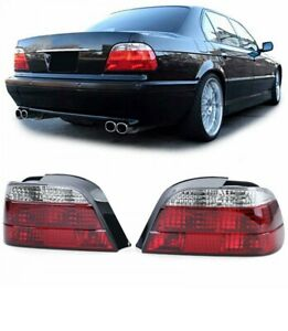Clear Finish Tail Lights Rear Lights in Red / Clear for BMW 7 Series E38 94-01