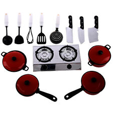 13 Sets Pots Pans Kitchen Cookware For Children Play House Toys Simulation ED
