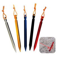 Aluminum Alloy 10Pcs/set 18cm Outdoor Camping Trip Tent Peg Ground Nail Stakes