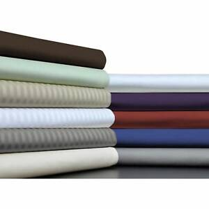 Deep Pocket Bedding Items Short Queen Size Solid/Striped 1000 TC Egyptian Cotton