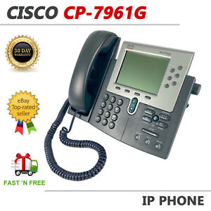 Cisco CP-7961G Unified IP Business Office Phone VoIP Display PoE