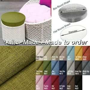 Tailor Made*COVER*Linen Blend Round Shape Sofa seat Papasan Floor Pillow Case*Nk