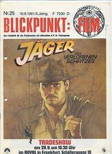 Blickpunkt Film Nr. 25 1981 Jäger des verlorenen Schatzes Carrie Fisher Chase