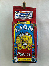 LION Vanilla Macadamia Nut Hawaii Hawaiian Coffee 10 oz. grind NEW, Free Ship