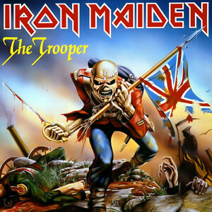 Iron Maiden The Trooper 80s Metal Vinyl LP Cover Refrigerator Magnet Fridge