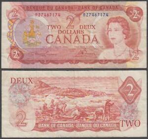 Canada - Elizabeth II, 2 Dollars, 1974, VF+, P-86(a)