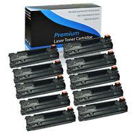 10PK Toner Cartridge CF283X 83X For HP LaserJet Pro MFP M225rdn M201n Printer