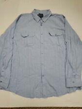 Men's American Rag Blue Long Sleeve Button Down Shirt XXL Good Condition