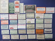 40+OLD PHARMACY-APOTHECARY-MEDICINE BOTTLE LABELS==DIFF