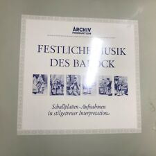 Festliche Musik des Barock LP, Archiv produktion