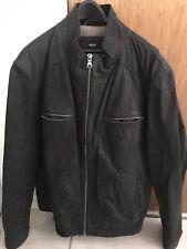76cdca93b62 Higo Boss Leather Jacket Buff Nubuck 46r