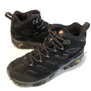 Merrell Moab 2 MID WP Waterproof Black Hiking Boot Shoe Men's Size 9.5