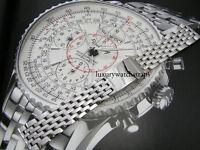 STEEL BRACELET STRAP FOR BREITLING BENTLEY NAVITIMER CHRONOMAT WATCH 20 22 24mm